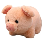 可愛小豬毛絨玩具公仔圓球仿真豬豬毛絨玩具陪睡娃娃豬年吉祥物聖誕節