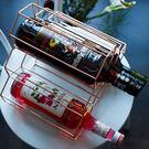 北歐金屬紅酒架擺件創意葡萄酒架子家用客廳...