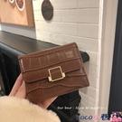 熱賣小錢包女短款2021新款簡約復古折疊搭扣零錢包韓版錢夾卡包【618 狂歡】