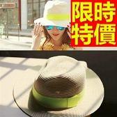 遮陽帽-清新舒適防曬女帽子2色57j97[巴黎精品]