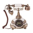 設計師美術精品館GDIDS老式復古創意電話機歐式仿古田園時尚古典家用座式電話機