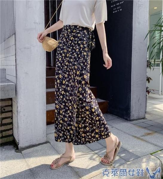 波西米亞沙灘裙泰國裹裙碎花雪紡包臀繫帶度假民族風一片式半身裙 快速出貨