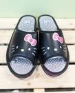 【震撼精品百貨】Hello Kitty 凱蒂貓~台灣製正版成人按摩拖鞋-大臉黑色(23~25號)#18151
