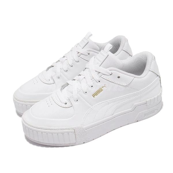 【海外限定】Puma 休閒鞋 Cali Sport Wns 全白 皮革 微增高 小白鞋 女鞋 運動鞋【ACS】 37387101