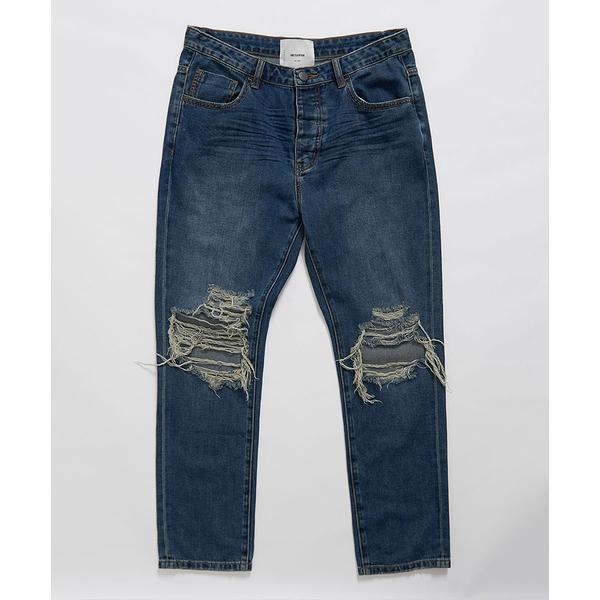 ONETEASPOON DIRTY INDIGO MR CLASSICS STRAIGHT 牛仔褲-深藍(男)