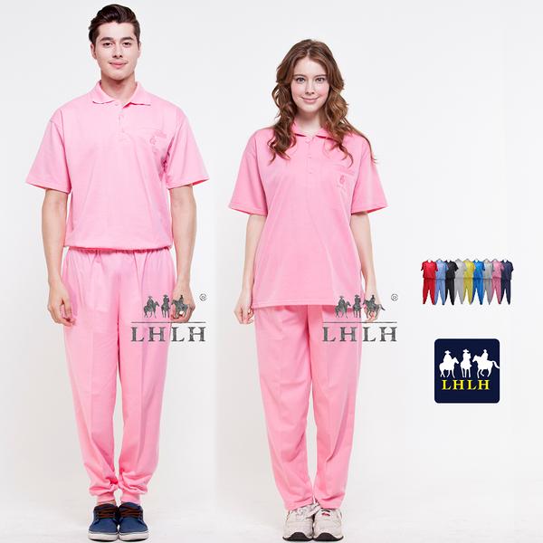 睡衣大尺碼居家服 粉色 看護服 健檢服裝 短袖套裝