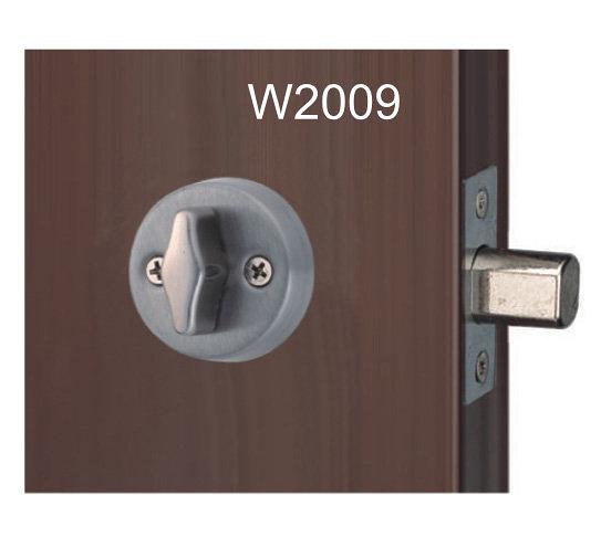 花旗暗閂 W2009 迷你型不銹鋼暗閂 鎖心60mm 門厚38~42mm