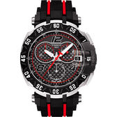 全球限量8888只 TISSOT 天梭 T-Race MotoGP 賽車計時手錶-黑/45mm T0924172720700