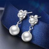 (低價促銷)珍珠耳釘女氣質正韓時尚耳夾無耳洞耳環銀耳針銀耳釘學生飾品女