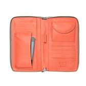 【LILI RADU】德國新銳時尚設計品牌 手工雙色小牛皮時尚手拿多功能手機包 錢包(優雅褐)