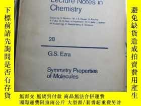 二手書博民逛書店Symmetry罕見Properties of Molecule