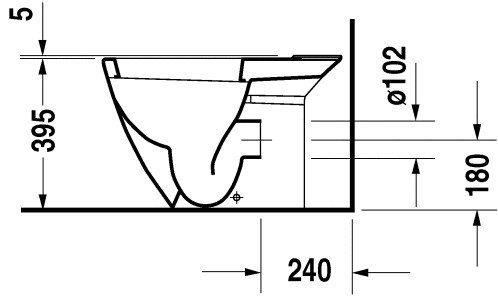 【麗室衛浴】 德國 DURAVIT  STARCK2 023809 雙體馬桶