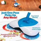 免插電免彎腰懶人掃地機 手推式 掃把畚箕套組