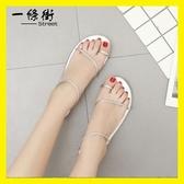 韓版夏季平底鞋簡單大方復古編織細帶交叉綁帶套趾休閒平底涼鞋女