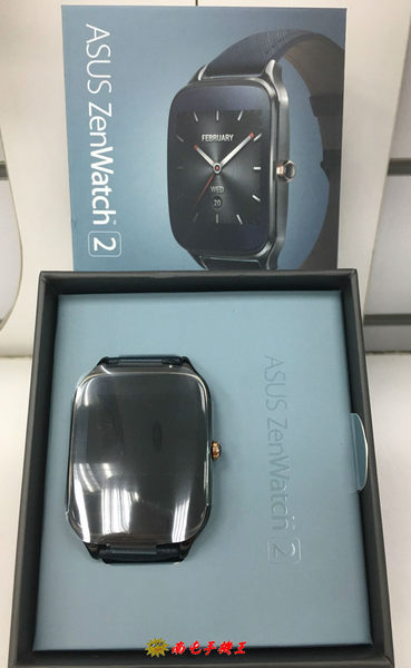 ↑南屯手機王↓ASUS ZenWatch 2 (大錶) 快充進化版 - 真皮伯爵藍~WI501Q【已拆封】~限定店面取貨