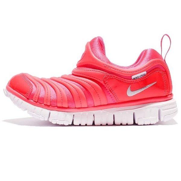 NIKE DYNAMO FREE TD 桃紅 毛毛蟲 復古 慢跑鞋 小童 男女鞋 343938-620
