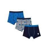 mothercare 藍色條紋平口褲3入-男童內著(M1TC830)3~10歲