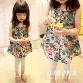 2019韓版女童春季新款童裝寶寶兒童襯衫襯衣娃娃衫上衣連衣裙3022