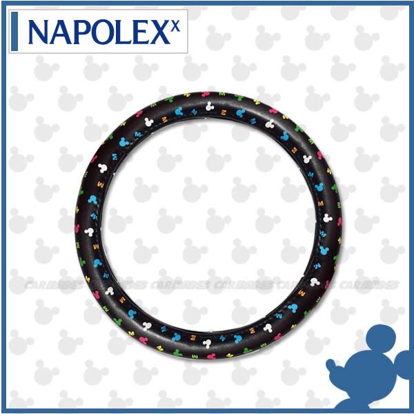 【愛車族購物網】NAPOLEX Disney 米奇方向盤套 (M尺寸) NEW