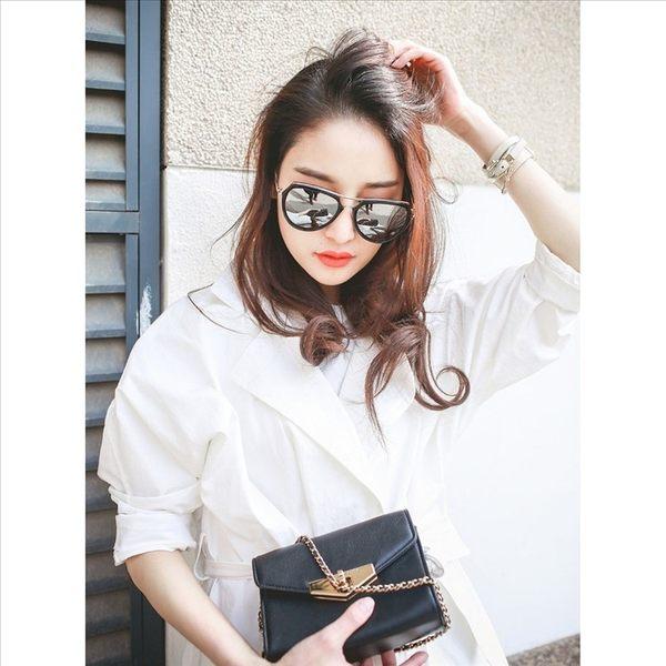 現貨-新款棱角面太陽眼鏡韓版復古大框個性金屬墨鏡金屬鏡框圓臉櫻花粉11