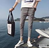 夏季牛仔褲男九分褲韓版潮流修身小腳褲網紅褲子男9分褲 PA15969『美好时光』