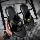 夾腳拖鞋 拖鞋男士夏季外穿韓版潮流新款網紅社會家用沙灘防滑人字拖涼拖鞋