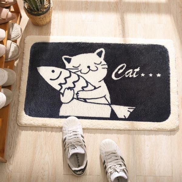 衛生間門口吸水門墊浴室腳墊防滑墊卡通進門地墊家用臥室地毯墊子 3C優購