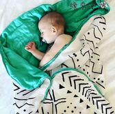 嬰兒蓋毯竹纖維紗布新生兒包巾