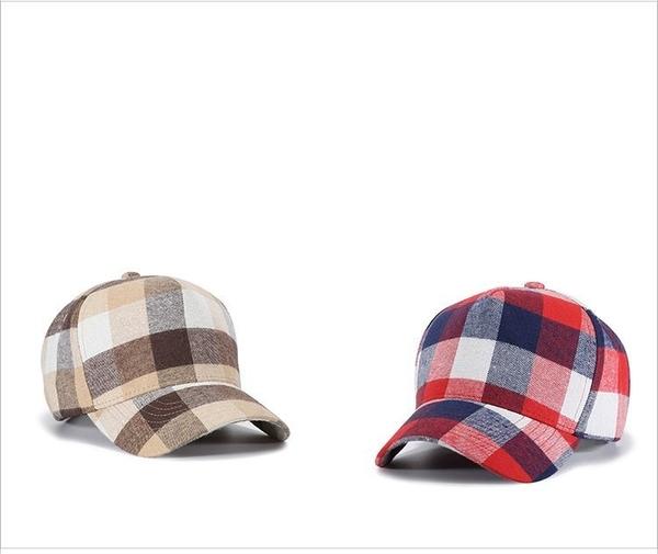 FIND 韓國品牌棒球帽 男 街頭潮流 彩色格子 嘻哈帽  街舞帽 太陽帽 鴨舌