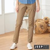 【JEEP】女裝 完美修身口袋長褲 (卡其)