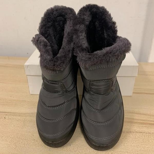 百搭時尚內刷毛雪靴雪地靴短靴(36號/777-10135)
