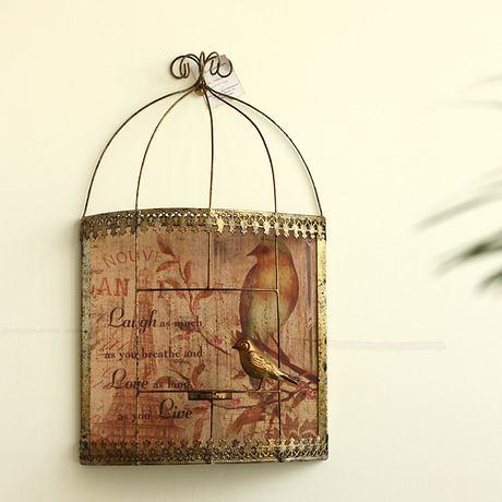 美式鄉村田園 古銅色鳥籠燭台