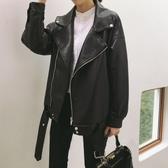 皮衣外套 2020秋季新款網紅港風帥氣機車服寬鬆百搭pu夾克小皮衣外套女士潮 新年慶