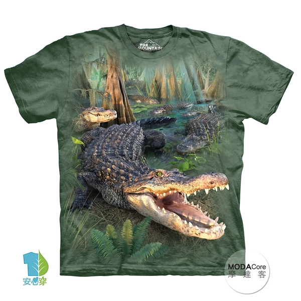 【摩達客】(預購)美國進口The Mountain 大鱷魚 純棉環保短袖T恤(YTM104174989082)