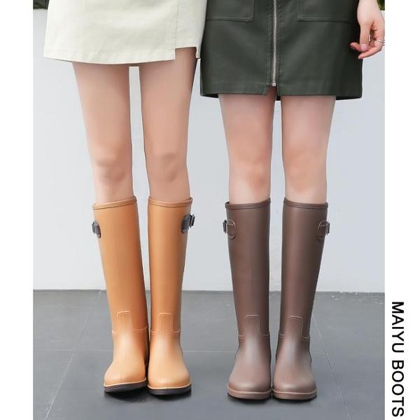女式雨鞋女時尚款外穿雨靴加絨長筒防水高筒水靴防滑膠鞋女士水鞋 初色家居館