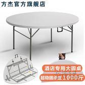 摺疊圓桌家用桌椅簡易大圓桌面桌子飯桌8-10人戶外簡約多功能餐桌igo 衣櫥秘密