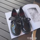 新品娃娃鞋韓國圓頭系帶低幫馬丁鞋女日系復古學生原宿厚底大頭小皮鞋潮 芊墨左岸