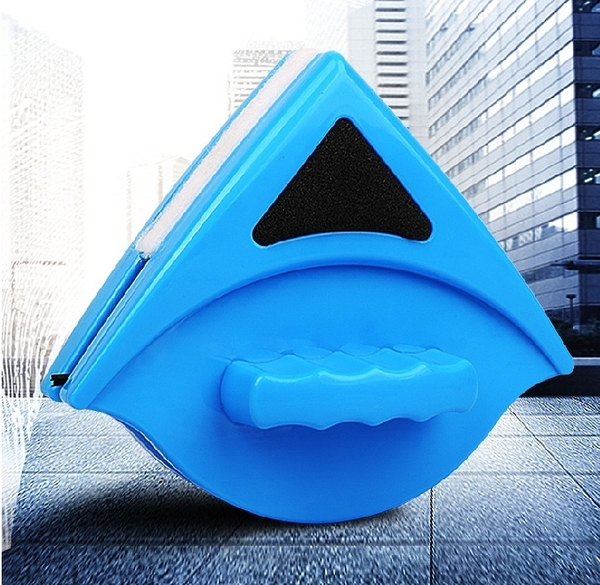 【雙面玻璃擦】3-8mm雙層磁性玻璃清潔器 擦窗戶 玻璃清潔刷 三角形擦窗器 清洗器☆☆