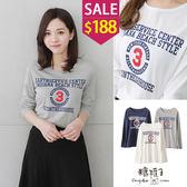 糖罐子*原價320 特價188*配色數字字母印圖上衣→現貨【E46940】