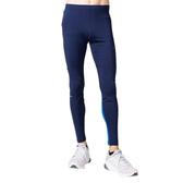 Asics 亞瑟士 [2011A867-402] 男 長褲 高彈 拼接 緊身褲 運動 慢跑 跑步 反光 深藍