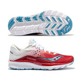 SAUCONY 女馬拉松鞋 KINVARA8 (白紅) 芝加哥限定款 緩衝型訓練鞋【 胖媛的店 】S10356-21