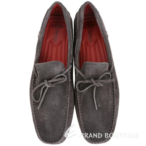 TOD'S FOR FERRARI GOMMINO 麂皮豆豆休閒鞋(男鞋/咖啡灰) 1620004-06