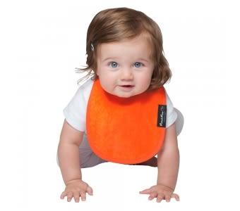 紐西蘭 Mum 2 Mum 機能型神奇口水巾圍兜-初生款-橘 吃飯衣 口水衣 防水衣