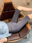 瑜伽褲 鯊魚皮打底短褲夏高腰瑜伽褲健美五分芭比褲女外穿薄款緊身騎行褲