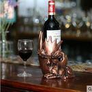 造型創意紅酒櫃擺件紅酒架葡萄酒酒瓶架子樹脂個性擺飾