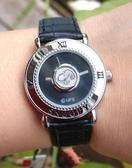 【卡漫城】 八折出清 Snoopy 鈕釦 手錶 黑 ㊣版 皮革 銀框 史努比 史奴比 女錶 個性錶 卡通錶
