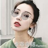 新款變色太陽鏡女士韓版多邊形墨鏡駕駛開車偏光鏡潮 聖誕節全館免運