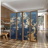 中式屏風隔斷客廳移動簡易折屏現代時尚玄關辦公實木簡約臥室折疊