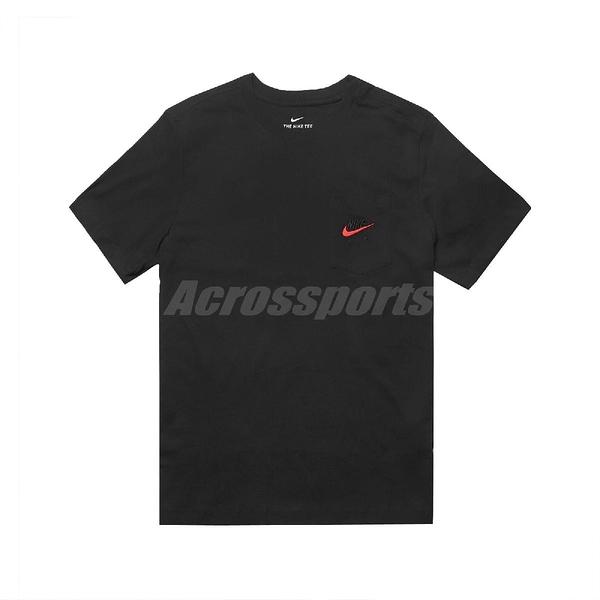Nike 短袖T恤 Air Tee 黑 紅 男款 短T 口袋T 運動休閒 【ACS】 CK2235-010