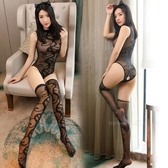 情趣內衣連體性感開襠透視連身襪制服誘惑提花分體式長筒絲襪套裝